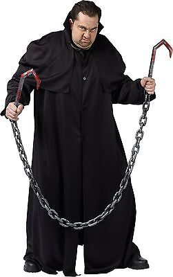 Meat Hook Costume Weapon w/Chain Reaper Zombie Butcher Bloody Knife Hooks Chains - Meat Costume