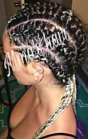 ..MMA's Hair ( Caucasian and black hairstylist)..cornrows