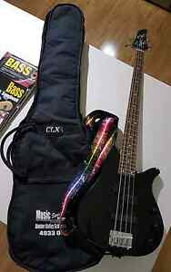 Black Yamaha Bass Guitar With Belcat Amp Gillieston Heights Maitland Area Preview