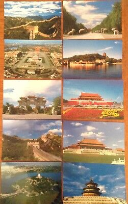 10 Postcards China Beijing Great Wall Imperial Palace Tian'anmen Square Ming etc