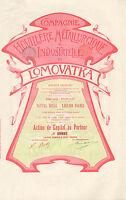 Compagnie Houillere Metallurgique & Industrielle De Lomovatka Sa, Accion 1899 -  - ebay.es