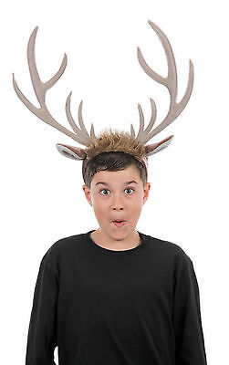 Sven Frozen Reindeer Child Kids Adult Headband With Antlers Elope NEW - Reindeer Antler Headband