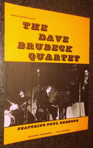 THE DAVE BRUBECK QUARTET-UK CONCERT PROGRAM-1962-RONNIE SCOTT/PAUL DESMOND-EX