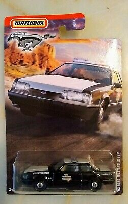 Matchbox 93 Ford Mustang LX SSP Texas State Trooper Police Car 2020