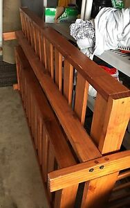Great honey oak solid wood futon Queen size