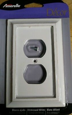 Savannah Distressed White Switchplate Cover Toggle/Outlet/Rocker Wooden