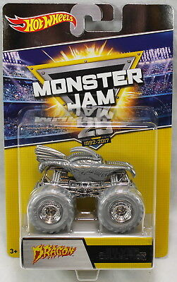 Hot Wheels Monster Jam 25th Anniversary Silver Collection Dragon Truck