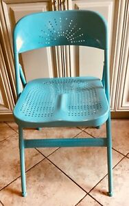 IKEA turquoise Folding metal Chair (new)