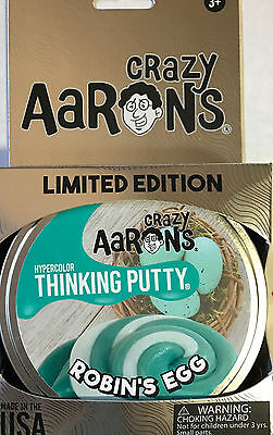 Robins Egg Hypercolor Crazy Aarons Thinking Putty Limited Large 4 Inch Tin 3 2