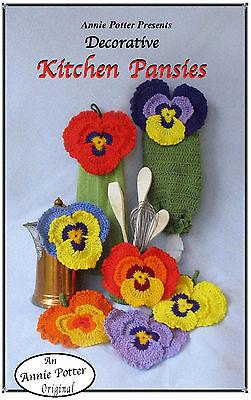 Crochet Kitchen Pansies Crochet kitchen set pattern