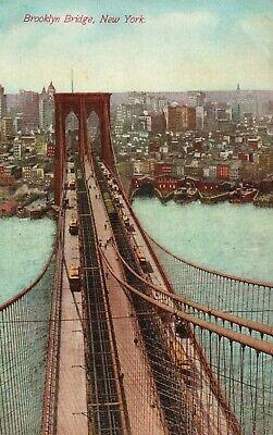 Brooklyn Bridge Manhattan Brooklyn Suspension Bridge NY New York City Postcard - Brooklyn Bridge, Suspension Bridge