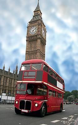 Affiche Poster Bus Angleterre Réf 13 ( 3 Dimensions, Papier Mat Ou Papier Photo)