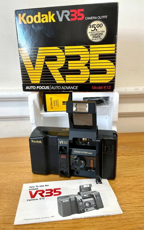 Vintage Kodak VR35 Model K12 35mm Point & Shoot Film Camera Auto Focus-TESTED