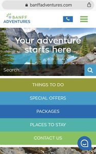 BANFF ADVENTURES Gift Certificate ($230 value for only $195)