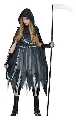 Grim Reaper Girl Child Tween Costume