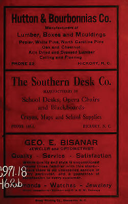 10 vintage HICKORY CITY DIRECTORY North Carolina NC old genealogy research DVD ()