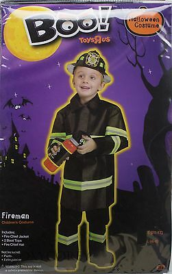 Halloween Boys Fire Chief Fireman Jacket Top Hat Costume Size Large 4-6 NWT (Top Boy Halloween Costumes)