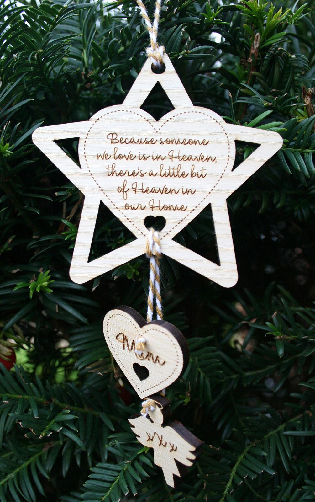 Personnalisé Arbre de Noël Photo Babiole en Loving Memory Décoration de Noël