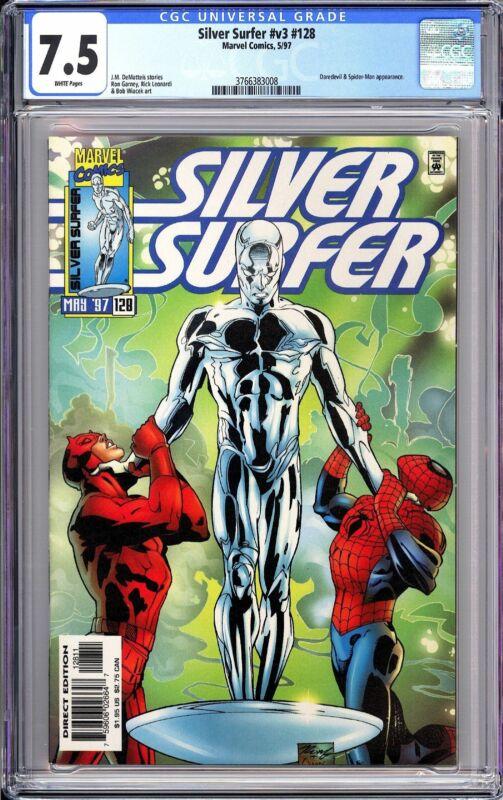 Silver Surfer v3 #128 CGC 7.5 WP 1997 3766383008 Daredevil & Spider-Man