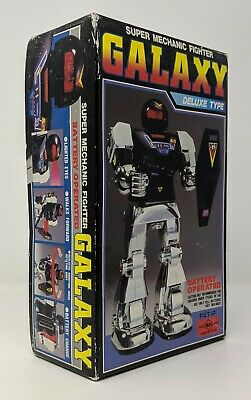 1984 - Horikawa - B/O Galaxy Super Mechanic Fighter Deluxe Toy Robot with Box (Boxing Fighter Robots Toy)