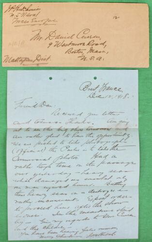 Original WWI December 12, 1918 Navy Letter Home