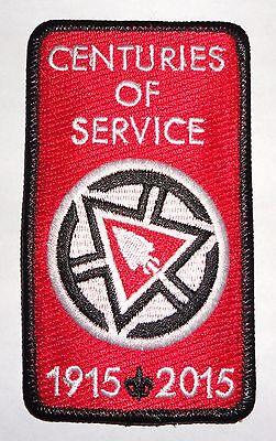 Order of the Arrow 2015 Centennial Centuries of Service Award Patch - OA NOAC