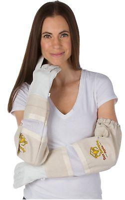 Beekeeping Gloves - Small Ventilated Sleeves Elastic Sting Proof Gauntlet Cuf...