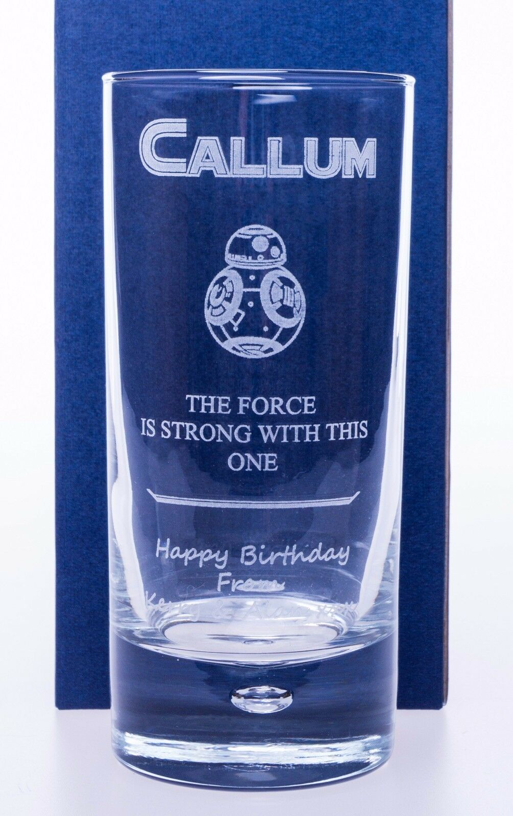Personalised Vodka /% Highball Glass Gift Dad//Mum//Birthday//Nan//Grandad//Daddy//Son