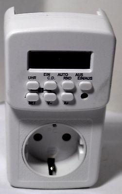 Elektronische, vorprogrammierbare Schaltuhr für verschiedene Einstellungen/Einsc