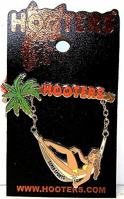 HOOTERS RESTAURANT GIRL IN HAMMOCK LAPEL PIN - SUPER SPORTS