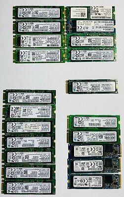 Lot of 21 Mixed Brand, NVME/M.2 SATA (512 GB, 256GB) SSD; Samsung, SK Hynix