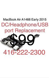 Apple MacBook Air A1466 DC/Headphone/USB Replacement