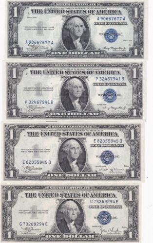 KAPPY W4801 SET OF TEN 1935 ABCDEFGGMOTTO H $1 SILVER CERTIFICATES CH CRISP UNC