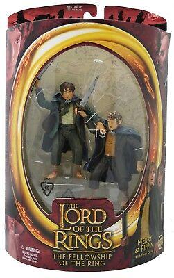 Herr der Ringe LOTR Merry & Pippin Collectorsbox 15cm Figur MINMB Toybiz
