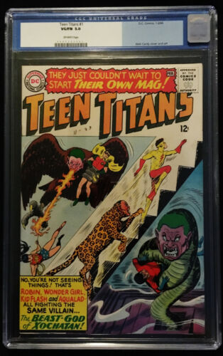 1966 DC Teen Titans #1 CGC 5.0 Off White Pages