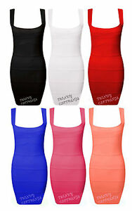 Womens-Ladies-Sleeveless-Pleated-Rib-Bandage-Bodycon-Stretch-Mini-Party-Dress