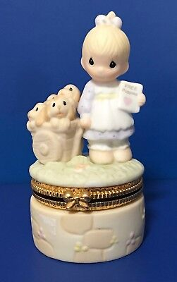 "Precious Moments ""God Loves a Cheerful Giver"" Trinket Box"
