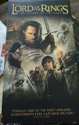 The Lord of the Rings: The Return of the King (VHS, 2004, 2-Tape Set, Full-Scre…