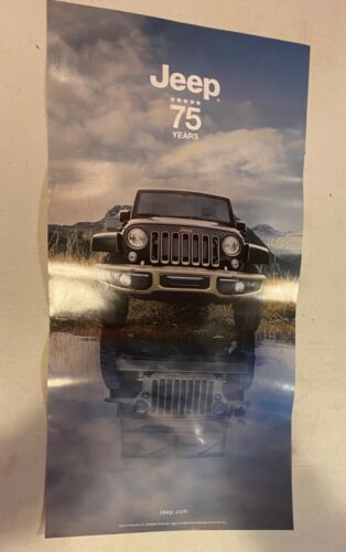 Jeep 75 Year Poster 2016 Wrangler Reflecting on 1941 Jeep