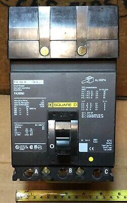 Square D Fa36060 60 Amp 600v 3p Circuit Breaker