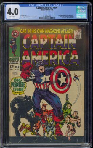 Captain America #100! CGC 4.0 Free Shipping!