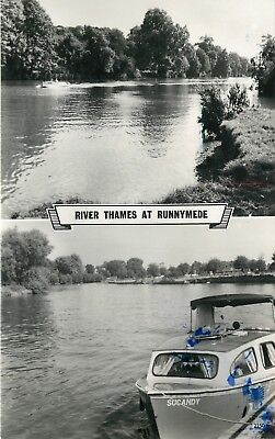 s09563 River Thames, Runnymede, Surrey, England RP postcard