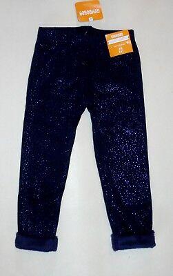 Gymboree Girls Navy Sparkle Warm Fuzzy Leggings 4 5-6 NWT - Girls Sparkle Leggings