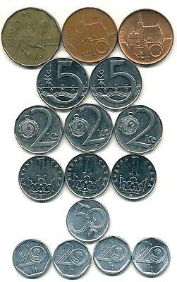 LOT 16 Münzen -- Tschechien -- unterschiedliche Jahrgänge und MZZ