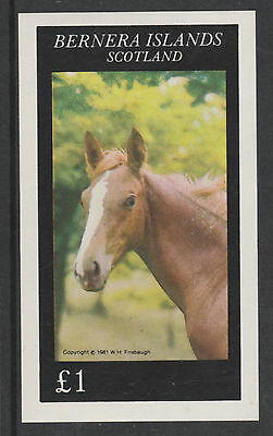 GB Locals - Bernera 3257 - 1981  HORSES  imperf souvenir sheet unmounted mint