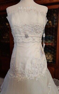 Abito da sposa Taffeta', pizzo e organza. Wedding dress Tea Bride