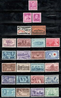 Купить 60-80 Year Old Mint US Postage Stamp Collection Of 25 Vintage Stamps (V-16)