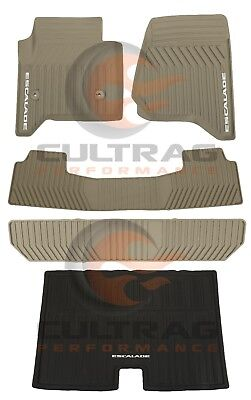 2015-2019 Escalade ESV Front & 2nd & 3rd Row & Cargo All Weather Floor Mats Dune
