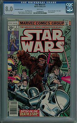 Star Wars #3 CGC 8.0 VF 35 cent price variant .35 very fine Marvel 1250660015