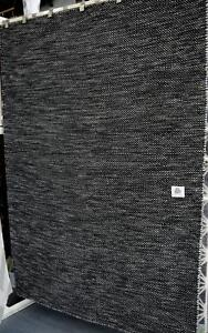 New The Rug Collection Subi Black Grey Flatweave 100 Wool Rugs